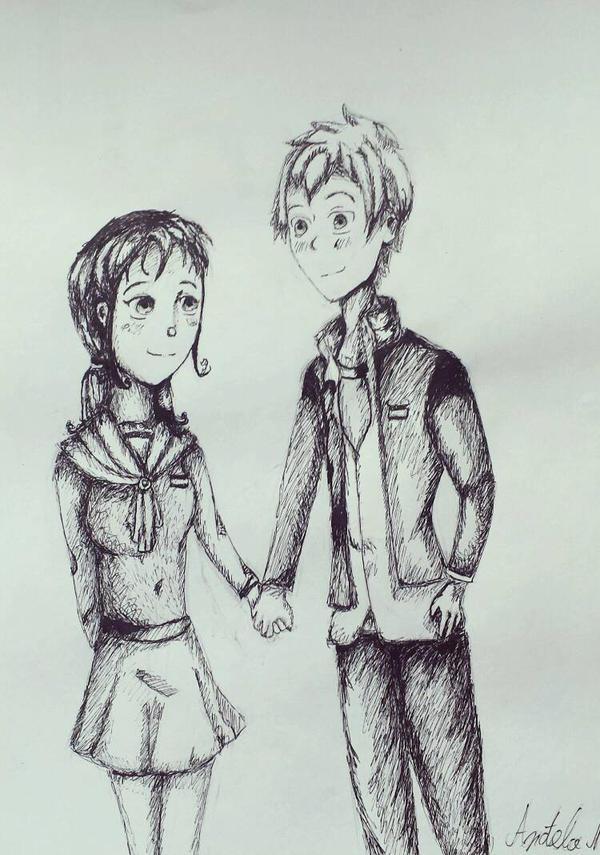 Ayumi and Yoshiki  by AngelaNedeljkovic