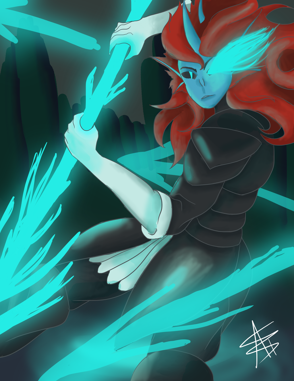 Undyne The Undying by LadyNidhogg