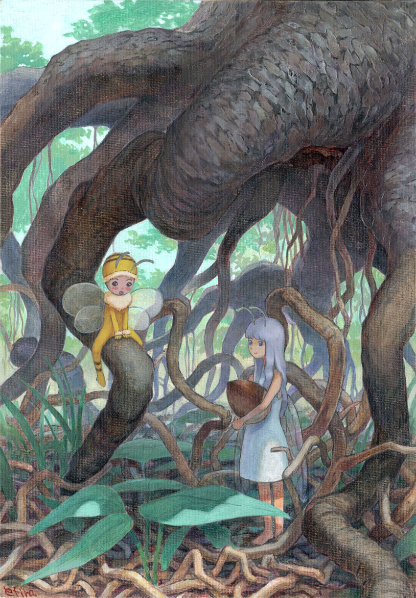 Root of a tree and fairy by efira-japan