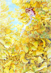 Maidenhair tree by efira-japan