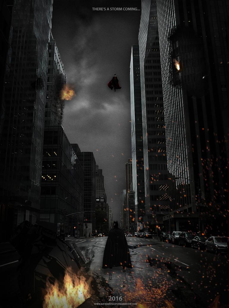 Batman vs Superman Teaser Poster 2016 by Delorean7