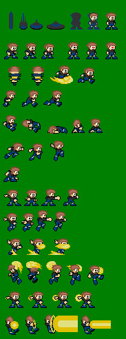 chuck norris - megaman style by falcon-the-echidna