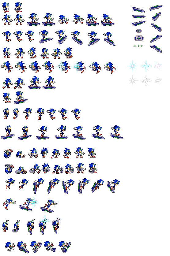 Sonic Riders ZG sprites by falcon-the-echidna