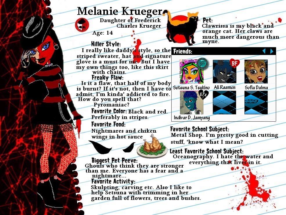 MH OC-Melanie Krueger profile by Bj-Lydia
