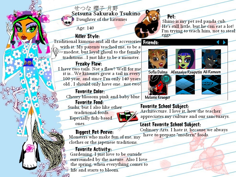 MH OC-Setsuna Sakurako Tsukino profile by Bj-Lydia