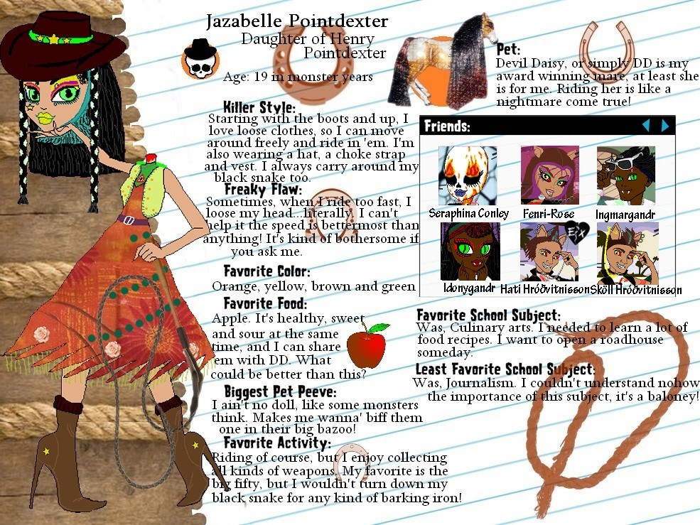 MH OC-Blanche Juice profile by Bj-Lydia on DeviantArt