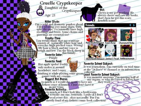 MH OC-Cruelle Cryptkeeper profile