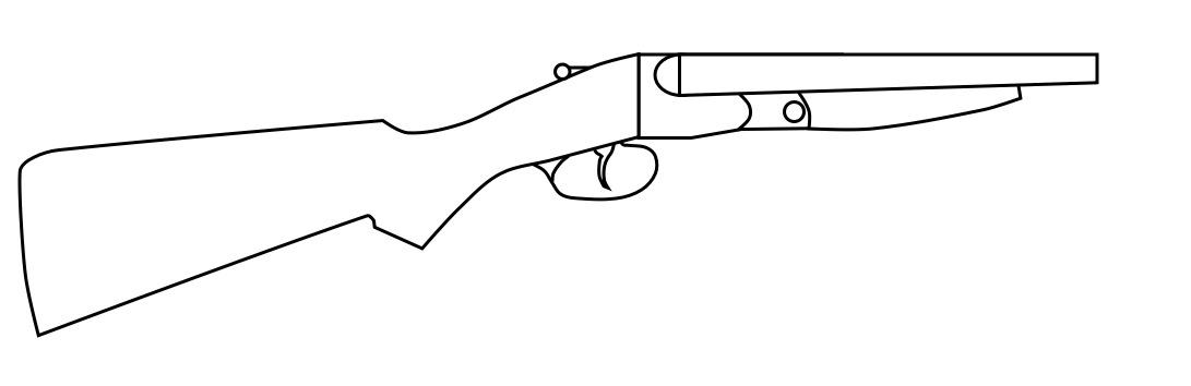Sawn off shotgun by lemmonade on deviantart for Shotgun coloring pages