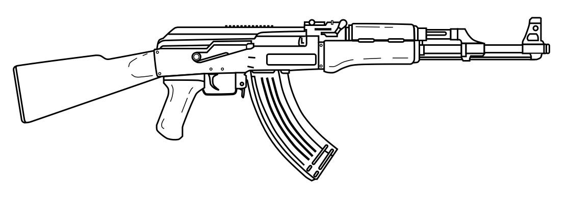 Gallery For gt Guns Drawings Ak47