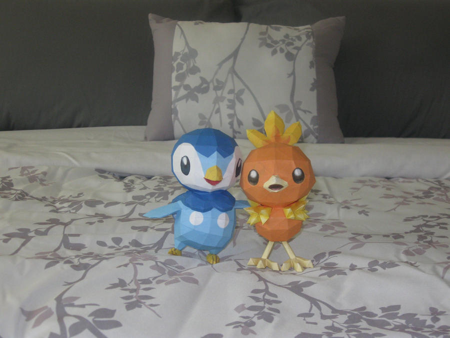 Piplup and Torchic by djl91