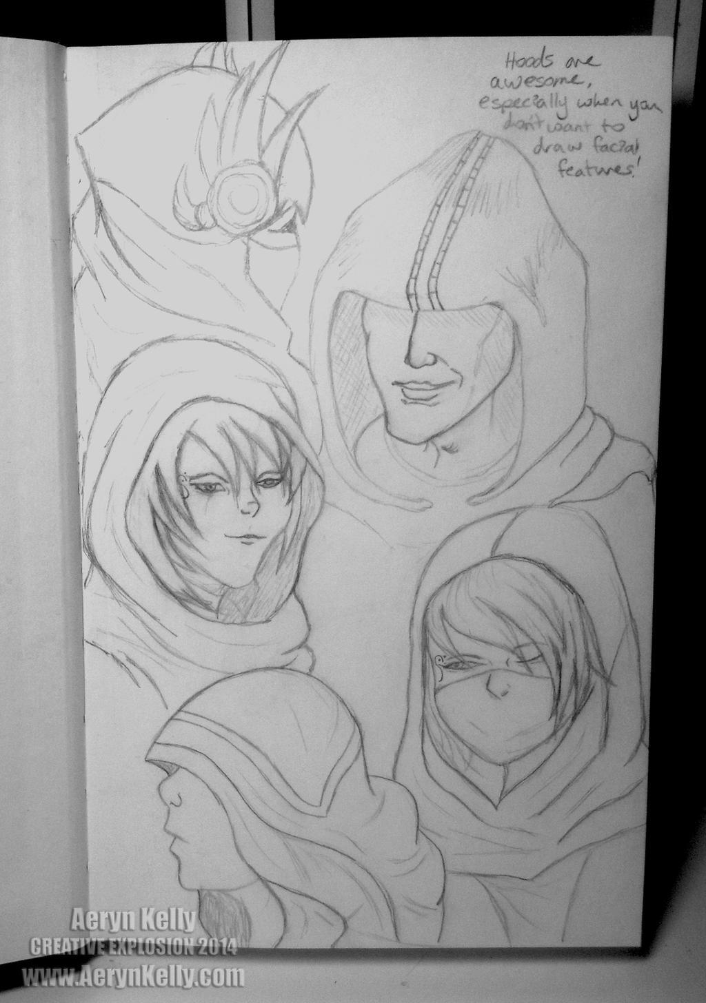 Sketch Dump 1 by AerynKelly13