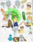 Rick and Morty sketchdump