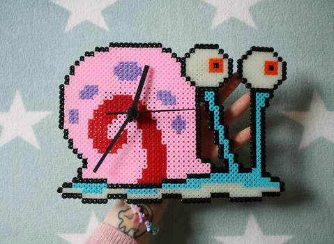 Gary the snail pixel clock