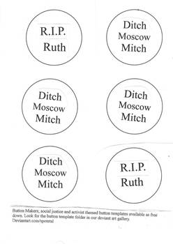 R.I.P. Ruth and ditch moscow mitch button template
