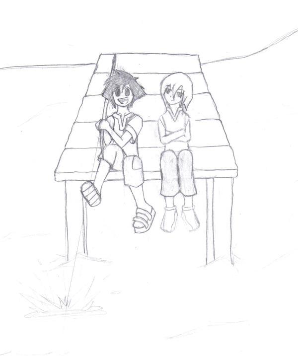 Sora and Riku are Island Kids by twilightsangel