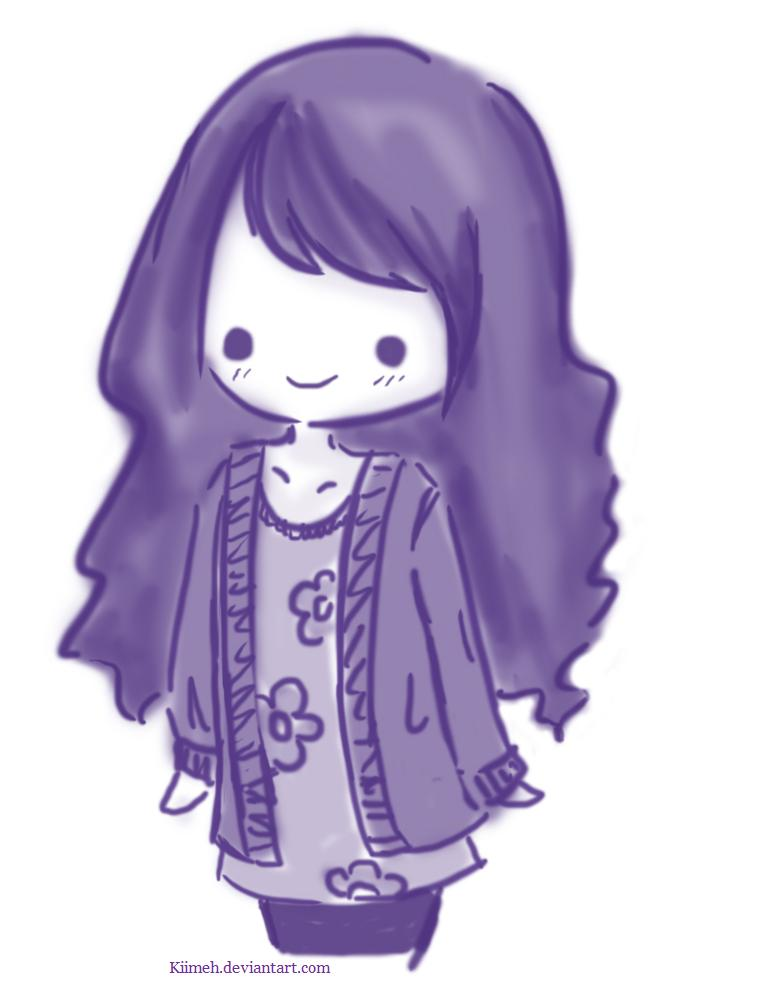 Purple girl by kiimeh on deviantart