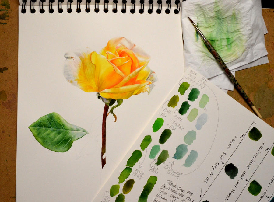 Yellow Rose - WIP by Shelter85