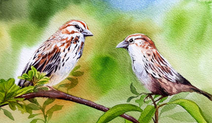 Sparrows by Shelter85