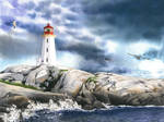 Peggy's Cove Lighthouse, 36 x 27 cm, 14 x 10.6 in