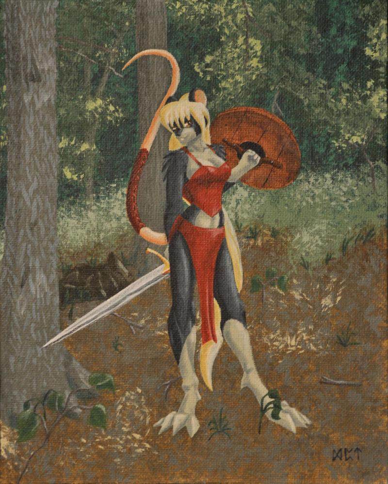 Rat Warrior-Woman by Ratofblades