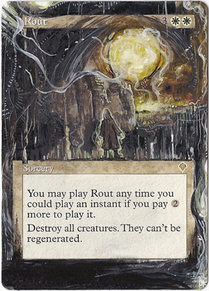 Magic Card Alteration:Rout by Ondal-the-Fool