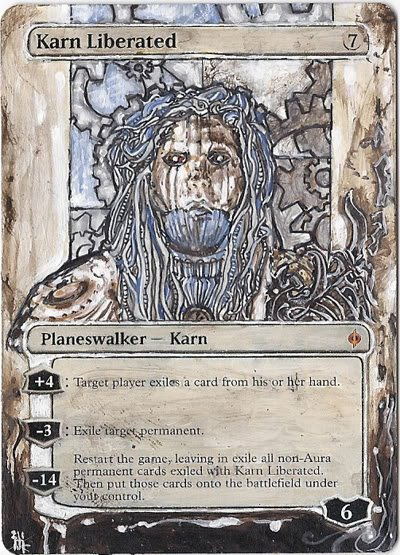 Magic Card Alteration: Karn Liberated by Ondal-the-Fool