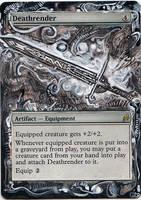 Magic Card Alteration: Deathrender by Ondal-the-Fool