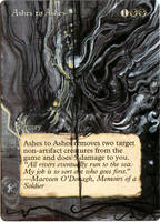 Magic Card Alteration: Ashes to Ashes by Ondal-the-Fool