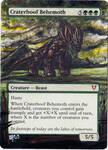 Magic Card Alteration: Craterhoof Behemoth