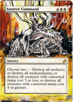 Magic Card Alteration: Austere Command by Ondal-the-Fool