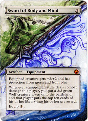 Magic Card Alteration: Sword of Body and Mind by Ondal-the-Fool