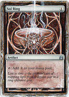 Magic Card Alteration: Sol Ring by Ondal-the-Fool
