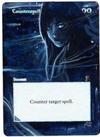 Magic Card Alteration: Counterspell 9-4 by Ondal-the-Fool