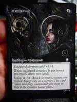 Magic Card Alteration: Skullclamp 10-22 by Ondal-the-Fool