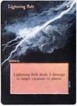 Magic Card Alteration: Lightning Bolt 3-2-14