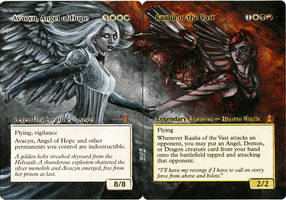 Magic Card Alteration: Kaalia and Avacyn by Ondal-the-Fool