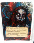 Magic the Gathering alter: Exhume 11/1614
