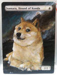 Magic the Gathering Alteration: Isamaru Doge