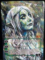 Altered Magic Card: Nissa, Worldwaker by Ondal-the-Fool