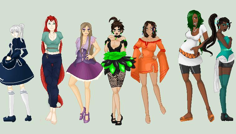 ::.Base: Girls of Symphia.:: by EnyasMusicBox