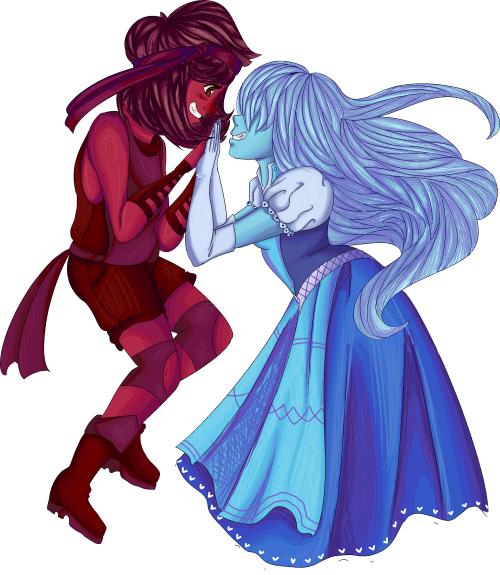Su sapphire and ruby by enyasmusicbox on deviantart - Ruby and sapphire su ...
