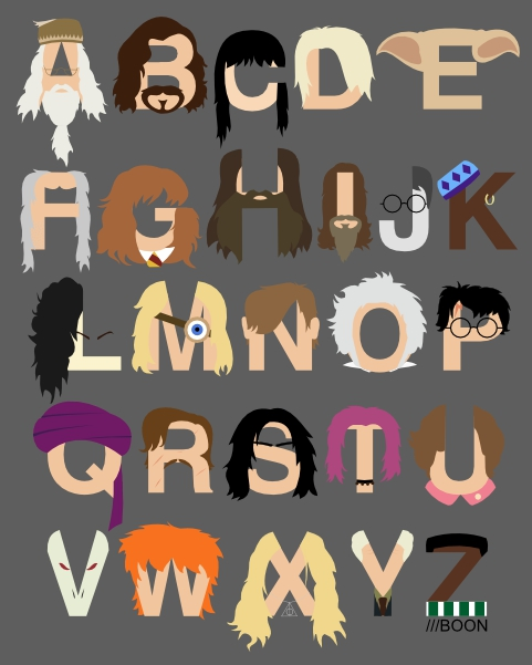 Harry Potter Alphabet By Mbaboon