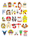 Super Mario Alphabet by mbaboon