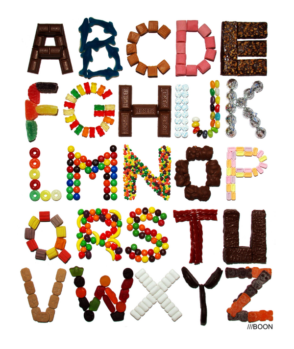 Candy Alphabet By Mbaboon On DeviantArt