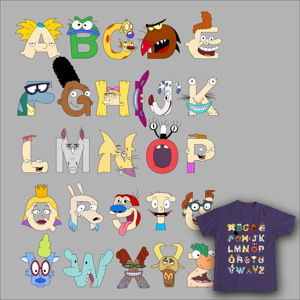 Nickelodeon Alphabet by mbaboon on DeviantArt