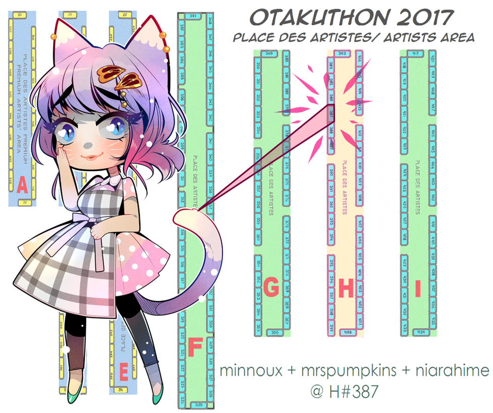 Table Placement Otakuthon 2017 by minnoux