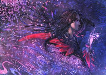 Midnight Blossom by rusharil