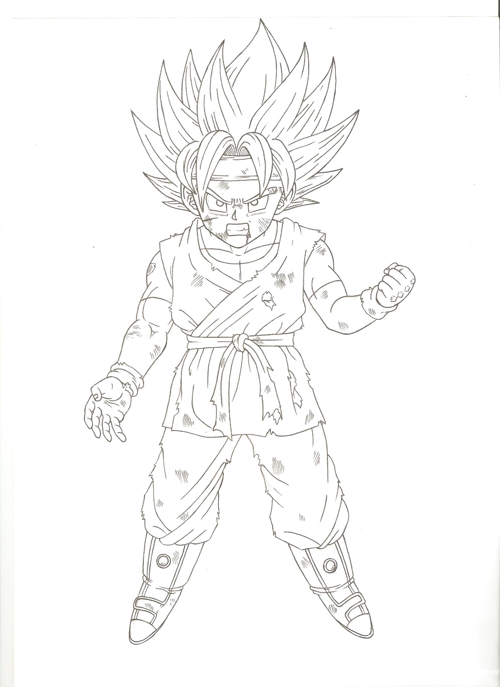 Son Goku Jr Super Saiyano By Hector444 On Deviantart