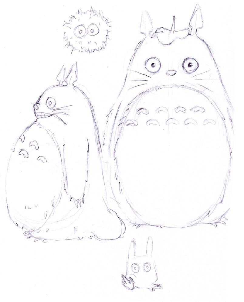 totoro doodles
