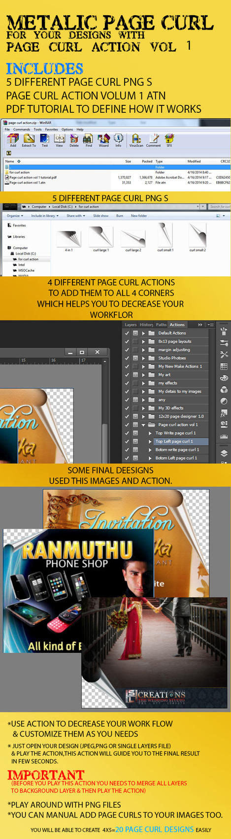 Metalic Page curl Action Vol 1 by cashedway